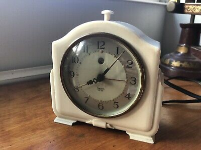 Vintage Art Deco Smiths Sectric Alarm Clock Bakelite