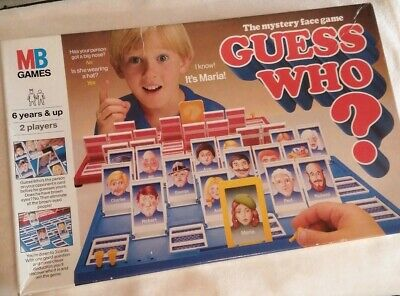 Old Vintage 1979 MB Games Guess Who Classic Family Fun Face Game Complete VGC