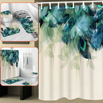 Wooden Hole American Red Squirrel Shower Curtain Set Bathroom Waterpoof Fabric 3d High Definition Printing Does