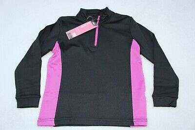 NEW Girls Crane Ski Roll Neck Top Age 5 - 6 Years BNWT Black & Pink