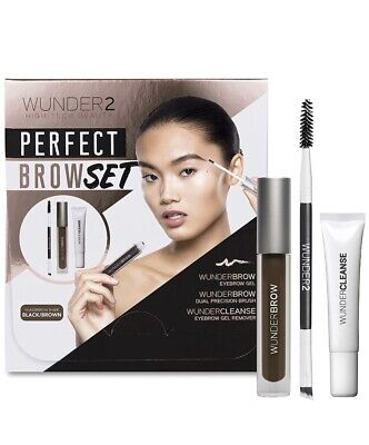 WUNDER2 Perfect Brow Set Black/Brown