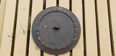 Antique Gate Mark Cast Iron Lid Cover Wood Stove HTF Rare Civil War Vtg USA AAFA