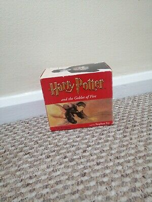 HARRY POTTER And The Goblet Of Fire Audio Book 18 CD's. Stephen Fry