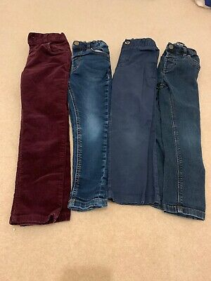 Boys Trousers Bundle Age 3-4 Years. Jeans. Chinos. Cords. Next.