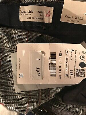 BNWT Zara Kids Boys Smart Trousers  Age 6