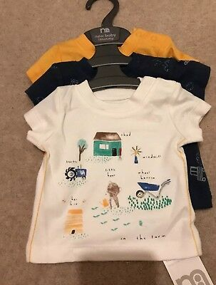 Mothercare 💚set Of 3 Tops💚 New 💙Size New Baby 💙