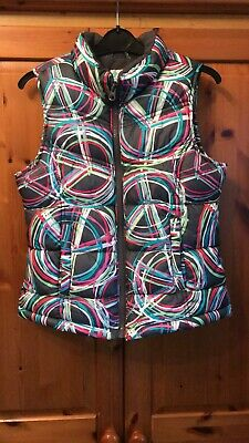 Girls Age 8 Years Size M Old Navy Designer Patterned Padded Gilet