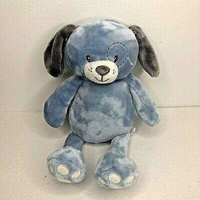 """Little Miracles Blue Plush Puppy Dog Gray Ears Paws Sewn Eyes Costco Floppy 13/"""""""