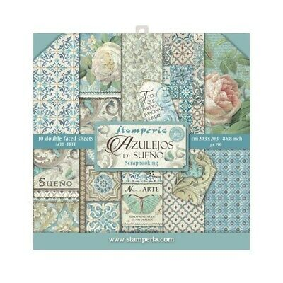 "Stamperia Azulejos 8"" x 8"" Scrapbook Papers"