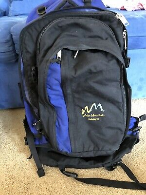 Backpack 60 Litre Blue White Mountain With Detachable Day Pack