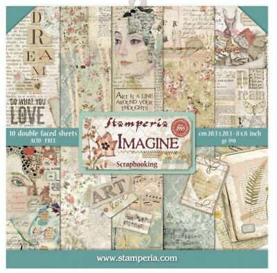 "Stamperia Imagine 8"" x 8"" Scrapbook Papers 2020 Release"