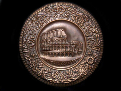 Amazing Vintage Italian Copper Decorative Wall Plate – The Colosseum!!!