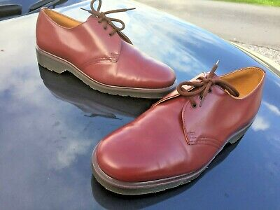 Dr Martens 1461 oxblood red leather shoes UK 8 EU 42 Made in England