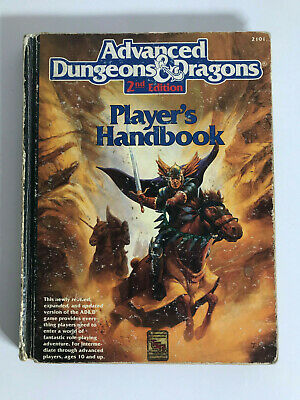 DUNGEONS & DRAGONS PLAYERS HANDBOOK H/cover Vintage 1989 2nd Edition USA