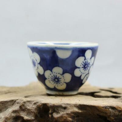 Chinese ancient antique hand make Blue and white Teacup  Porcelain decoration F3