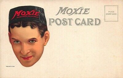 Moxie Man With Moxie Hat Advertising Postcard