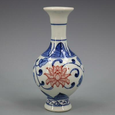 Chinese ancient antique hand make Blue and white  vase Porcelain decoration   S2