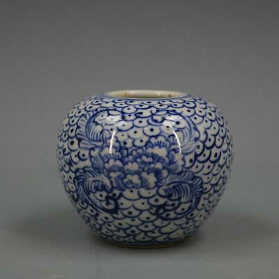 Chinese ancient antique hand make Blue and white Porcelain decoration D2