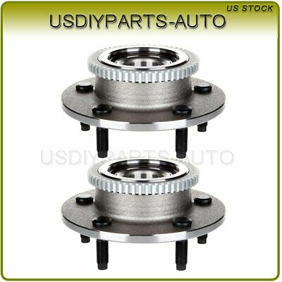 TRQ Front Wheel Hub /& Bearing Left /& Right Pair Set for 00-02 Dodge Ram w// ABS