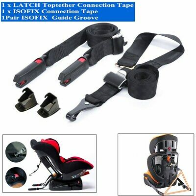 ISOFIX Latch Connector Safe Belt for Kid's Safe Seat Fixed Seatbelt Replacement
