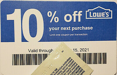 Twenty (20) LOWES Coup0ns 10% OFF At Competitors ONLY notLowes Exp Nov15 2020