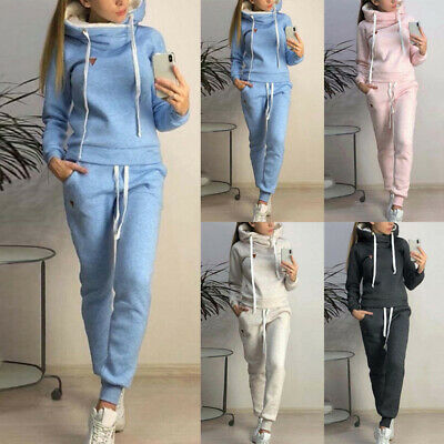 Women's Sweatsuits Tracksuit Hoodies  Jumpsuit Pants Long Top Sleeve Long