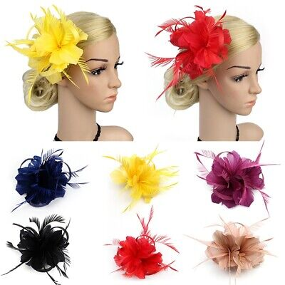 Flower Hair Clip Feathers Small Mini Top Hat Wedding Fascinator Party Hot Sell