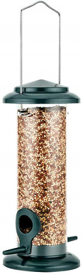 iBorn Bird Feeder Hanging Wild Bird Seed Feeder for Mix Seed Blends, Niger Seed