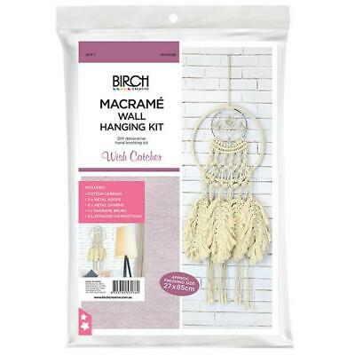 Birch MACRAME Wall Hanging Kit WISH CATCHER 27x85cm MWHS08 Knotting/Weaving