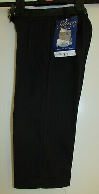 New With Tags Boys Black Trousers With Belt Age 2 Years By Silver Choice