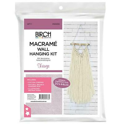 Birch MACRAME Wall Hanging Kit FRINGE 20x44cm MWHS018 Knotting/Weaving
