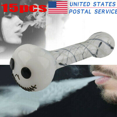 15pcs Silicone Hand Tobacco Smoking Pipe with Bowl Herb Cigarette Pipe Portable