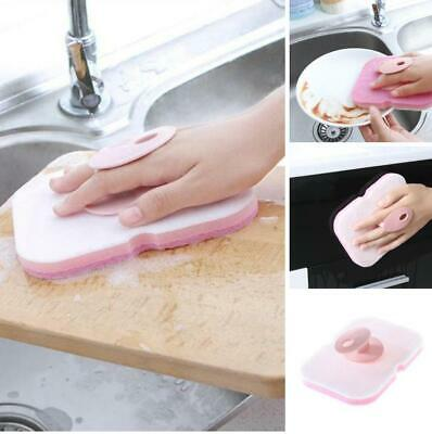 Durable Double-sided Dish Scrubber Sponge Brush Cleaning Household Tool