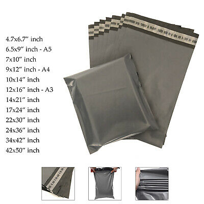 Strong Mailing Bags Large Medium Small Grey Plastic Postage Postal Mail UK