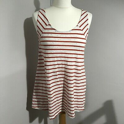 Mamas And Papas Maternity Pulled Effect Stripe Vest Top UK Size 8 A8