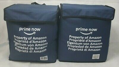 2 x AMAZON PRIME NOW TAKE AWAY DELIVERY DRIVERS BAG PROFESSIONAL SK001 CC 01