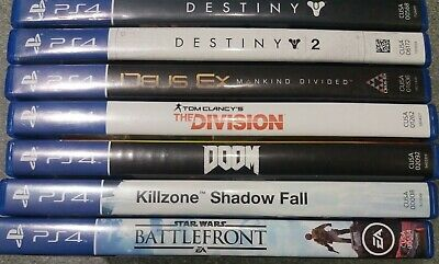 Playstation 4: Action/FPS x7 Game Bundle - Preowned - Fast Dispatch
