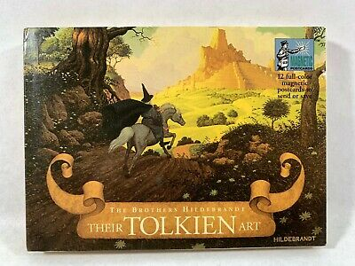 JRR Tolkien Lord Of The Rings The Hobbit Magnetic Postcard Book Hildebrandt Art