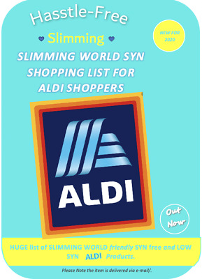 💕Aldi Slimming World Free/Low Syn Shopping List *Paper Edition💕