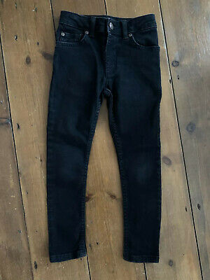 Boys River Island Age 5 Years Jeans Skinny Fit Black Inseam 17""