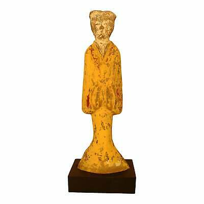 A Large Chinese Pottery Figure of a Court Lady, Han Dynasty, 206 BC - 22 AD