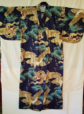 Smithsonian Institution womens kimono  style cotton robe size L made in Japan