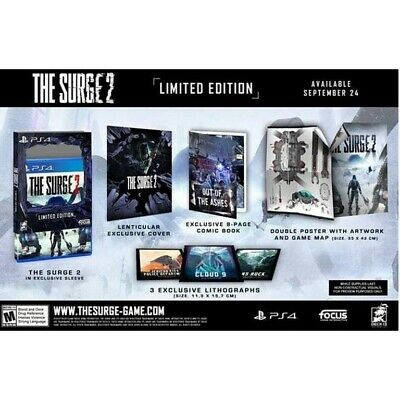 The Surge 2, Limited Edition Ps4, Used twice