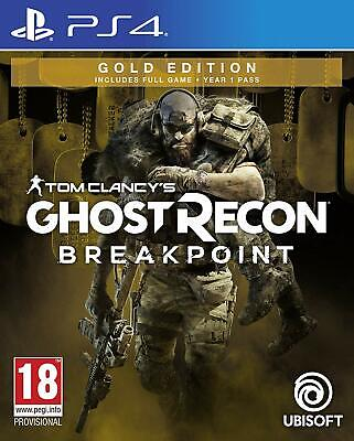 Tom Clancy's Ghost Recon Breakpoint - Gold Edition   PlayStation 4 PS4 New