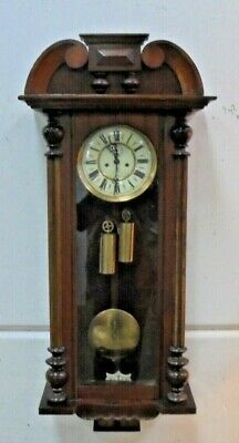 ANTIQUE Vienna  Wall Clock  8 day   /working order