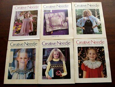 6 Back Issues Creative Needle Magazine ENTIRE 1986 Yr Smocking Sewing Embroidery