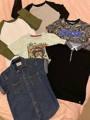 Boys Next And River Island Top Bundle Age 7-8 Years