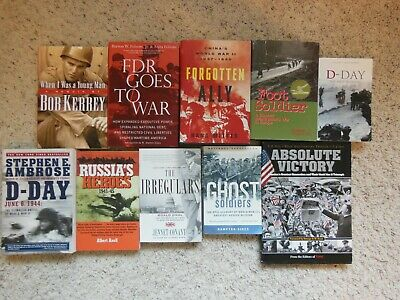 Mixed Lot Of 10 Historical Books On World War Ii