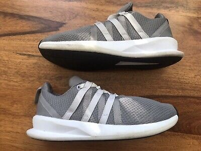 Kids Adidas Laces Ups Prime Knit Grey Sport Running Gym Fitness Trainers Size 3✨
