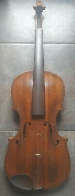 Vintage Violin 1900s 4/4 Made in Germany 2 Piece Maple Back Easy Project